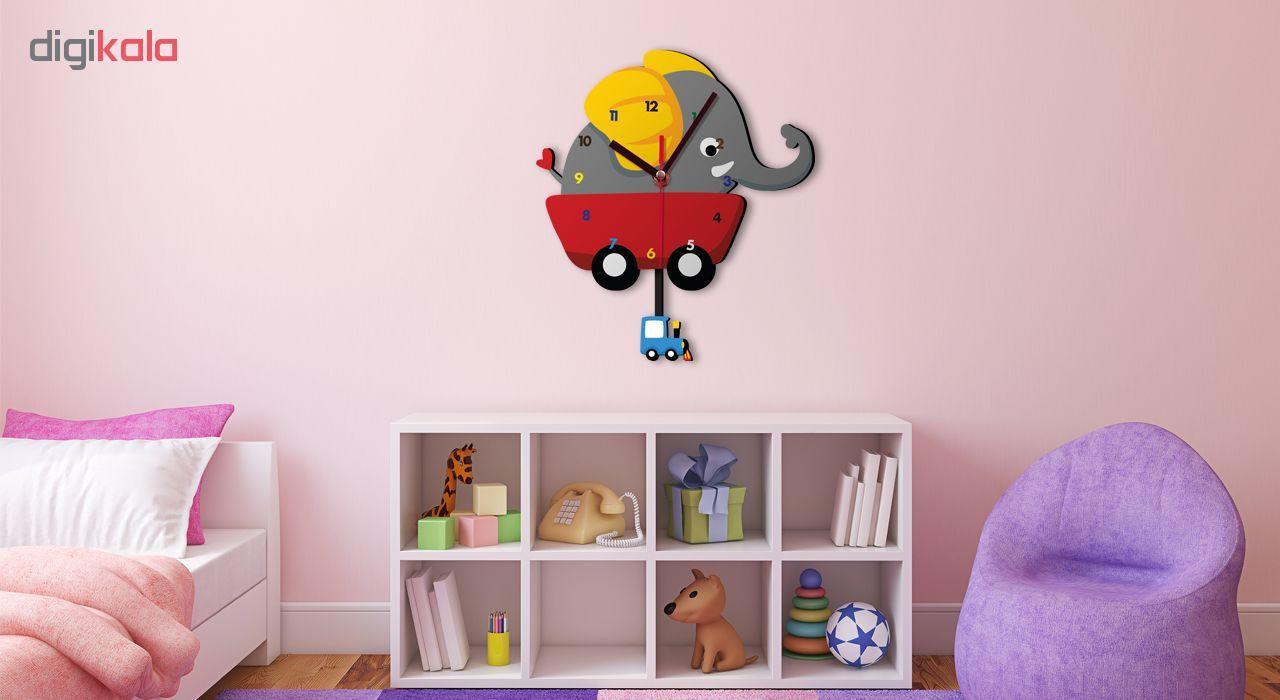 ساعت دیواری کودک ژیوار طرح  فیل کوچولو main 1 1