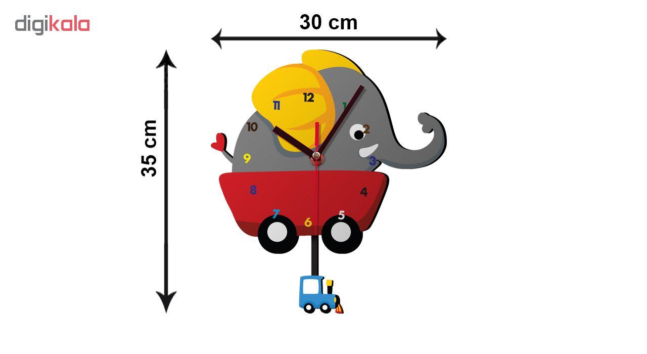 ساعت دیواری کودک ژیوار طرح  فیل کوچولو main 1 2