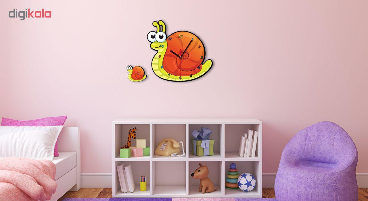 ساعت دیواری کودک ژیوار طرح  حلزون زیبا main 1 1