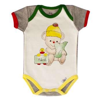 بادی آستین کوتاه نوزادی آدمک طرح اردک
