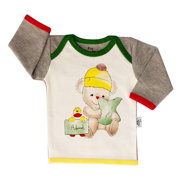 تی شرت آستین بلند نوزادی آدمک طرح اردک