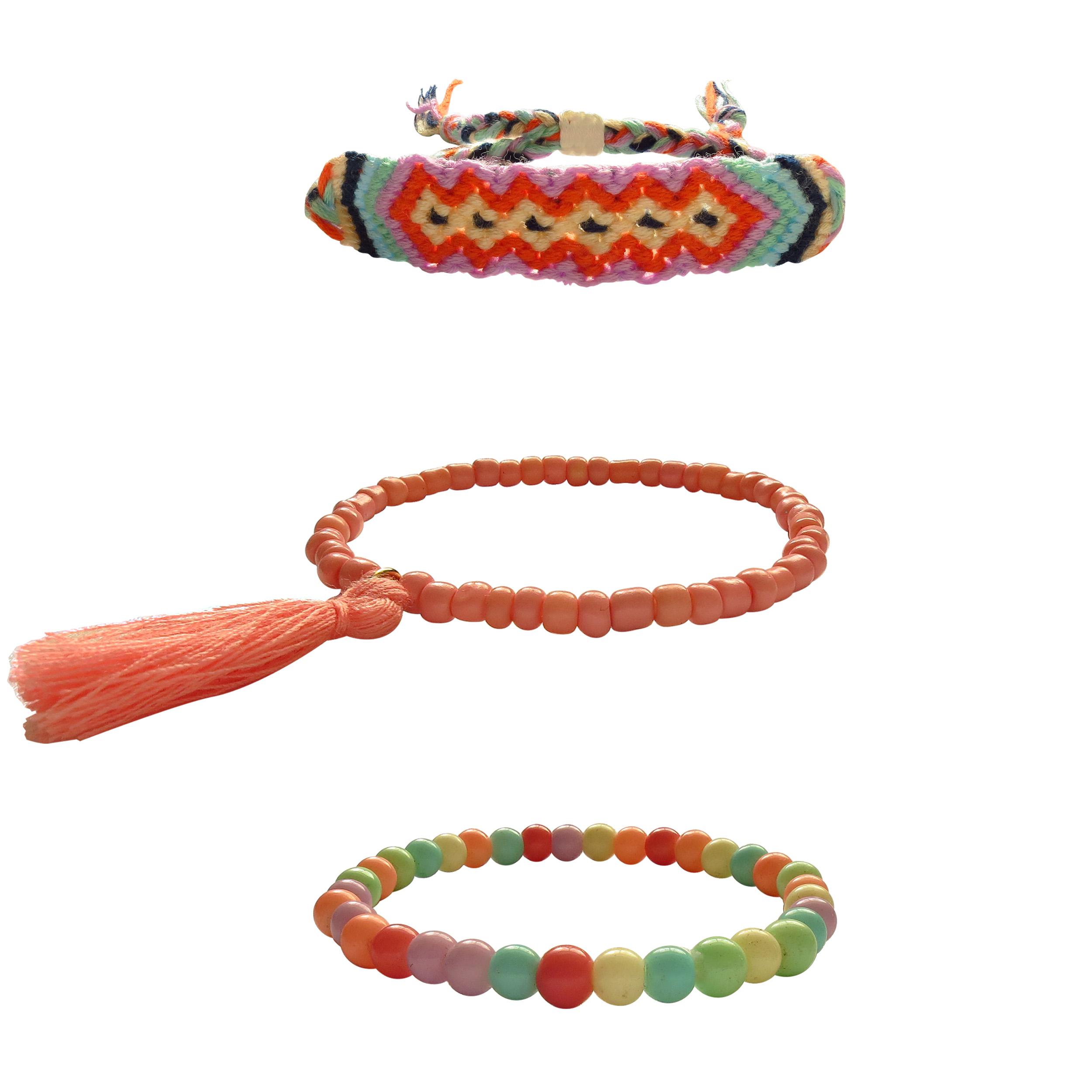 دستبند زنانه کد 80703 مجموعه 3 عددی