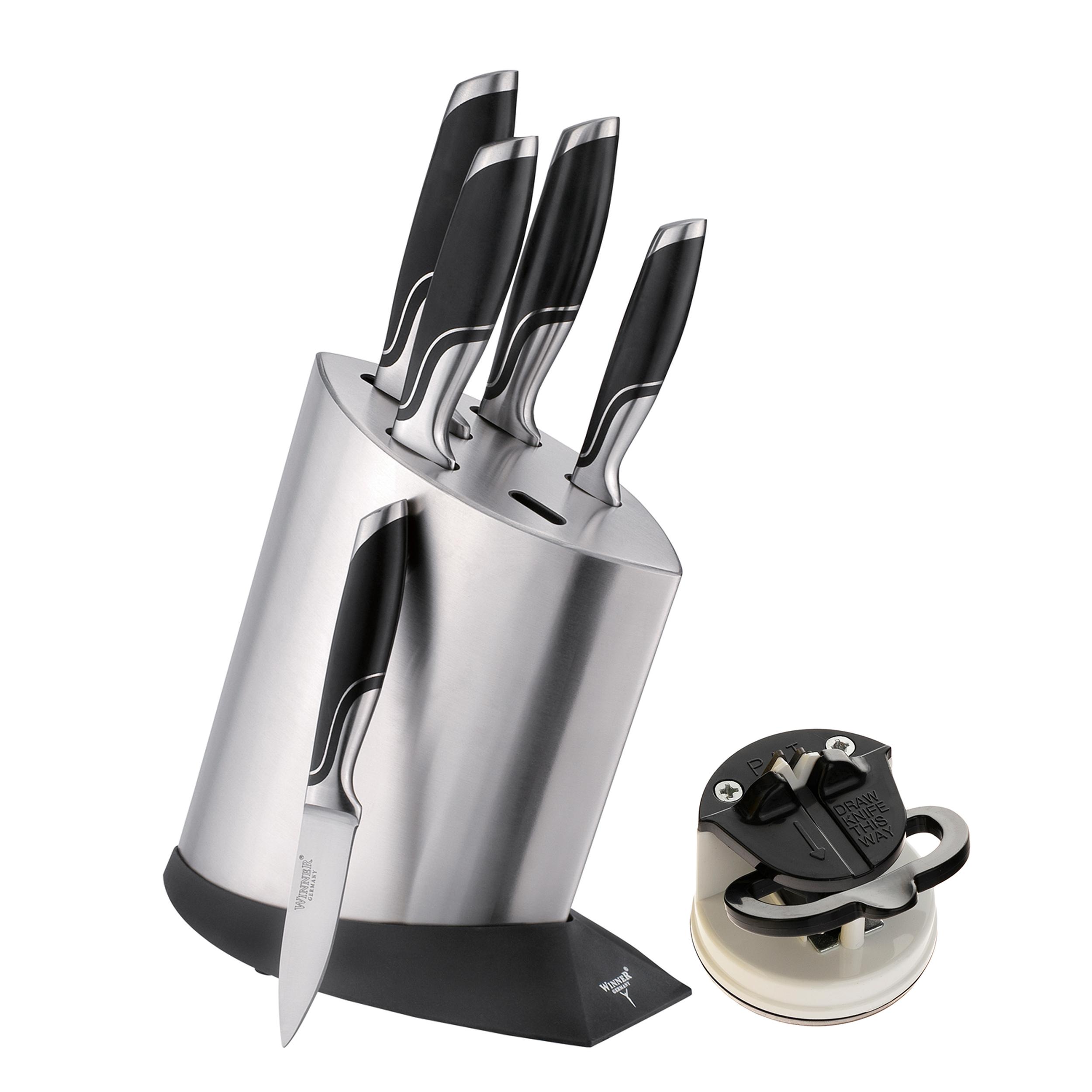 سرویس چاقو آشپزخانه 7 پارچه وینر کد W7336S به همراه چاقو تیزکن
