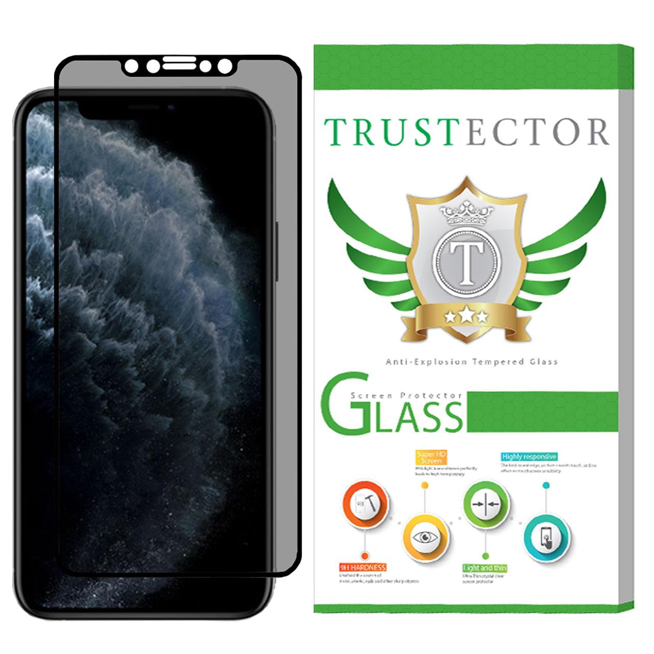 محافظ صفحه نمایش حریم شخصی تراستکتور مدل PSP مناسب برای گوشی موبایل اپل iPhone 11 Pro Max