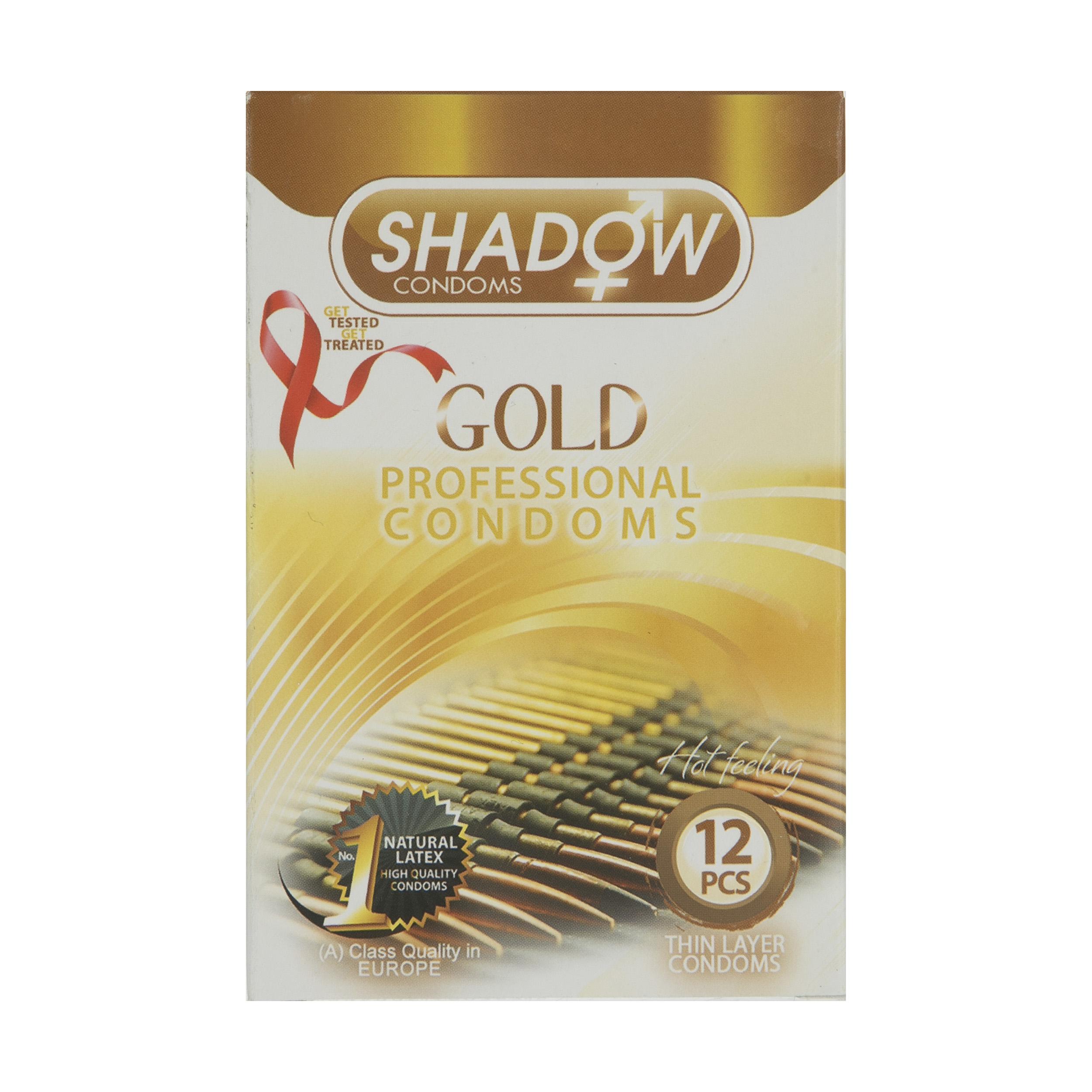 کاندوم شادو مدل Gold بسته 12 عددی