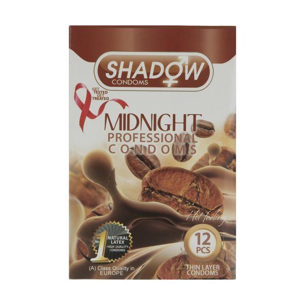 کاندوم شادو مدل Midnight بسته 12 عددی