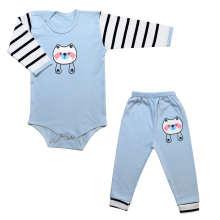 ست بادی و شلوار نوزادی طرح راکون کد 10-11