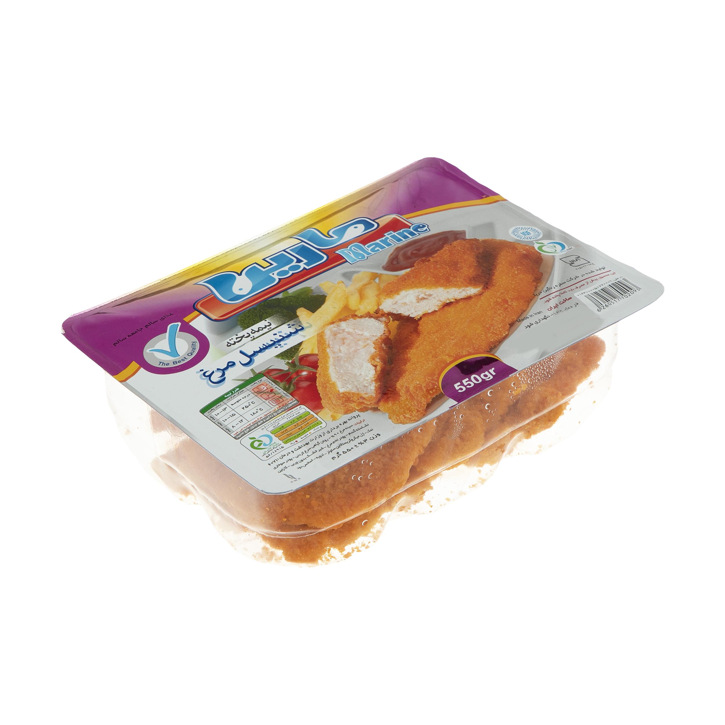 شنیسل مرغ مارین مقدار 550 گرم