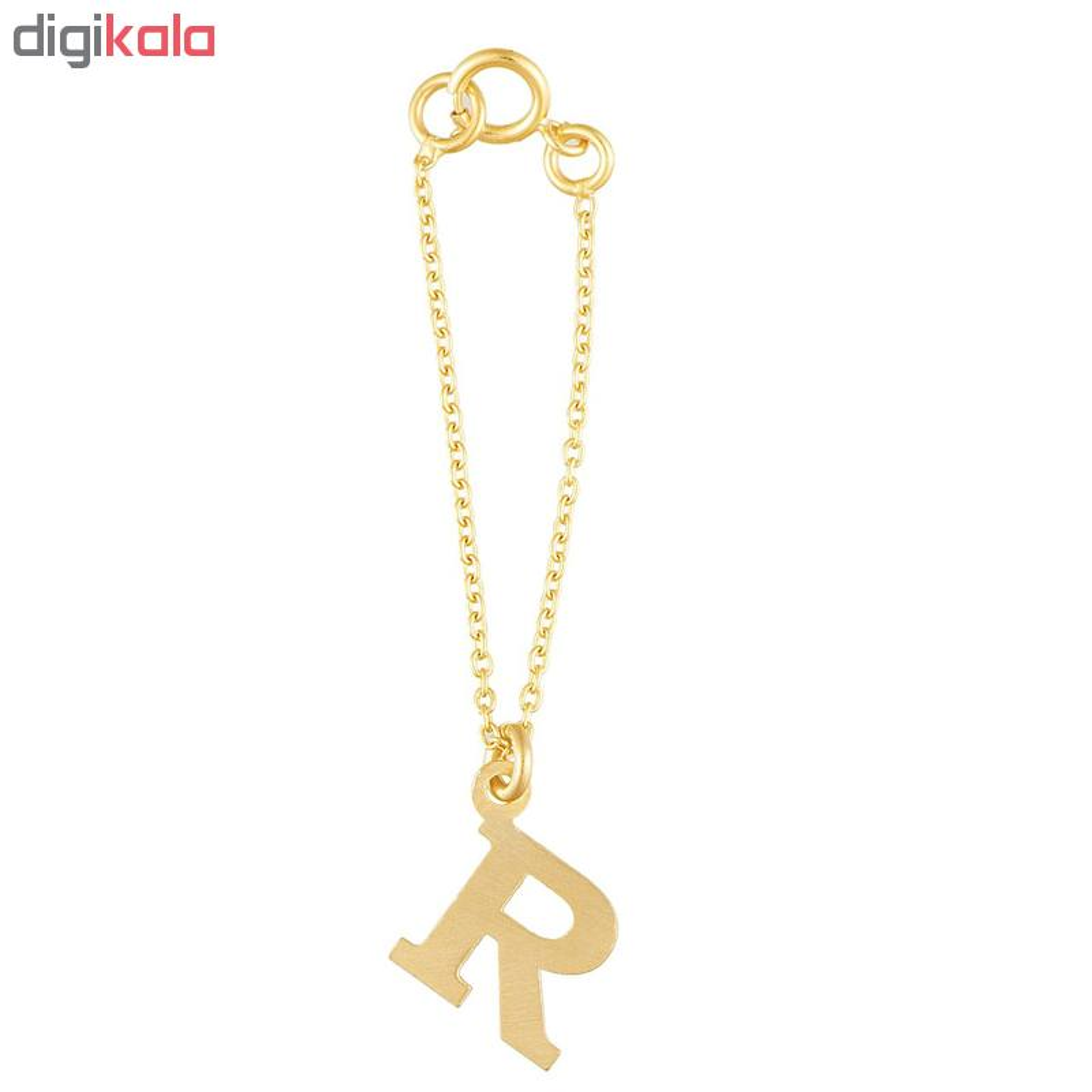 آویز ساعت طلا 18 عیار زنانه طرح حروف آر کد SG514