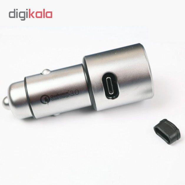 شارژر فندکی شیاومی مدل   CZCDQ02ZM QC3.0 فست شارژ دارای پورت USB-C main 1 3