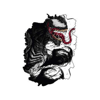 استیکر لپ تاپ گراسیپا طرح Venom کد ۰۱
