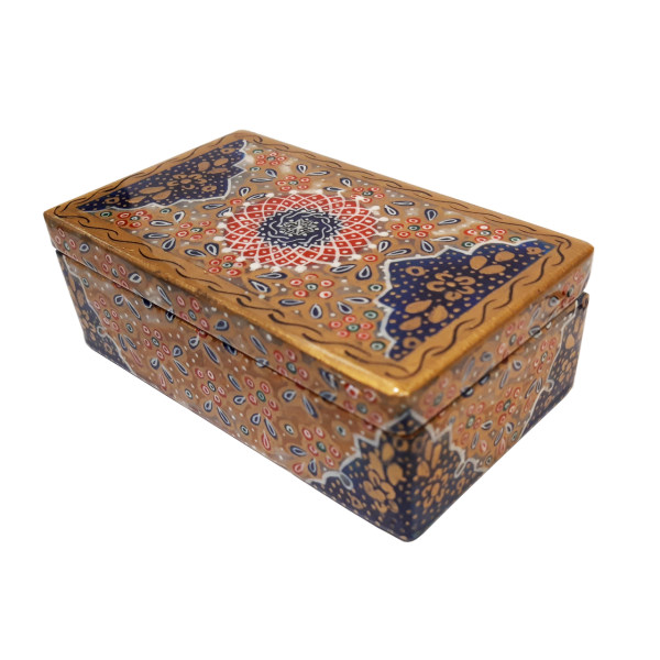 جعبه سنگی طرح تذهیب گل دار کد 30127-1