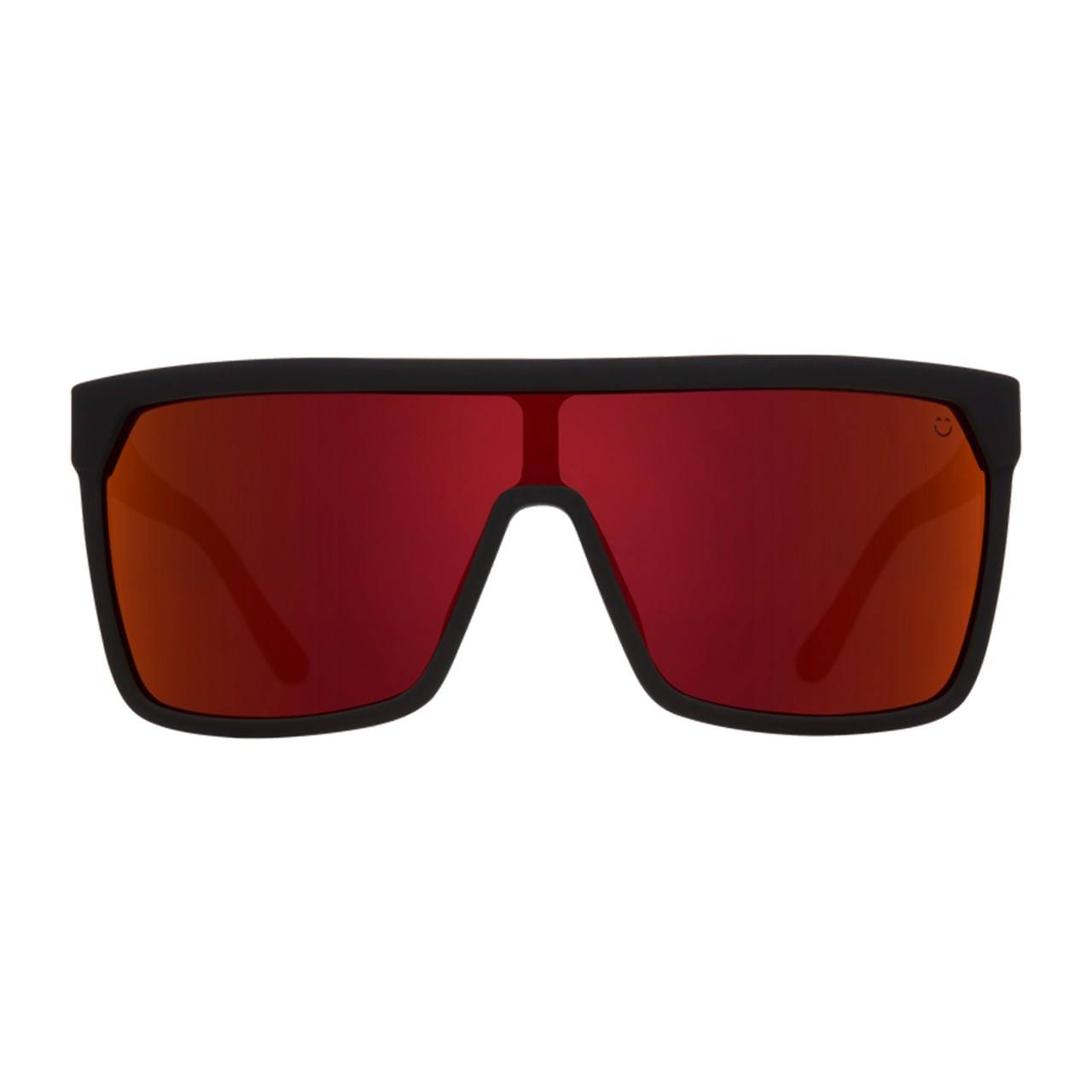 عینک آفتابی اسپای سری Flynn مدل Soft Matte Black Red Fade Happy Gray Green Red Flash -  - 1