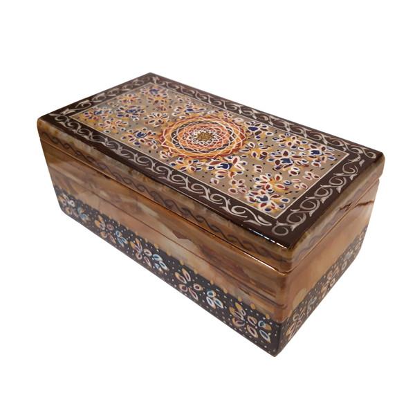 جعبه سنگی طرح تذهیب کد 30158