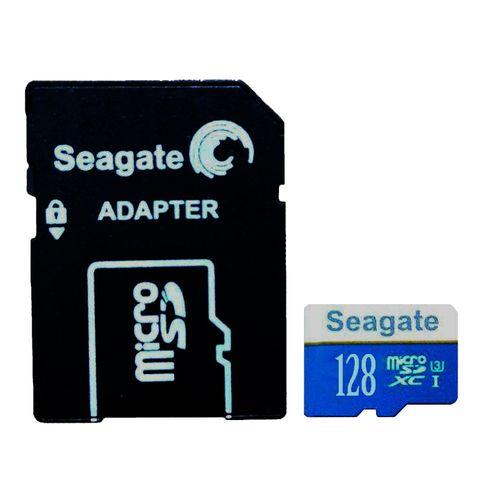 کارت حافظه microSDXC سیگیت مدل HTT کلاس 10 استاندارد UHS-I U3 سرعت 100MBps ظرفیت 128 گیگابایت به همراه آداپتور SD