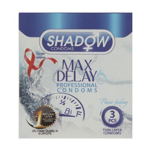 کاندوم تاخیری شادو مدل Max Delay بسته 3 عددی