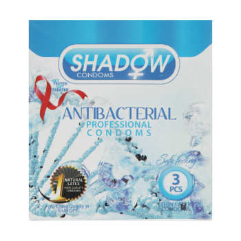 کاندوم شادو مدل Anti Bacterial بسته 3 عددی