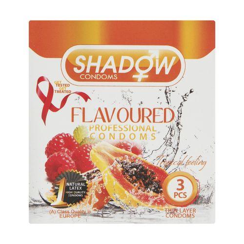 کاندوم شادو مدل FLAVOURED بسته 3 عددی