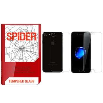 محافظ صفحه نمایش و پشت گوشی اسپایدر مدل S-TMP002 مناسب برای گوشی موبایل اپل iPhone 6 Plus / 6S Plus