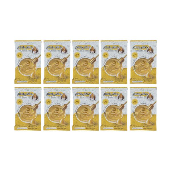 کره بادام زمینی عسلی دکتر بادام بسته 10 عددی