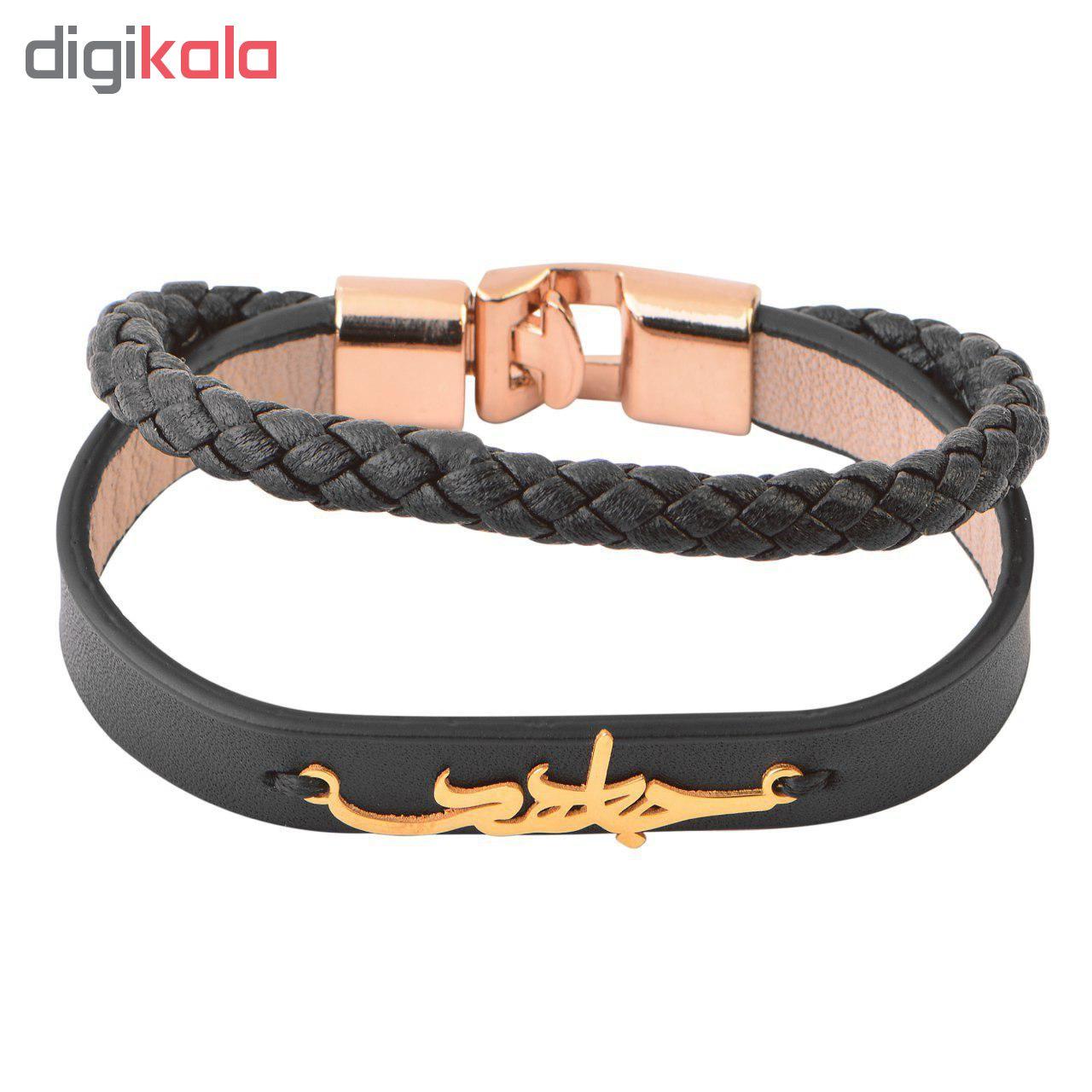 دستبند مردانه کابوک طرح جاهد کد C0127