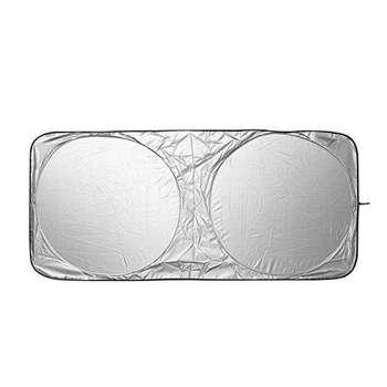 آفتابگیر شیشه جلو خودرو مدل A100 به همراه کاور نگهدارنده و آفتابگیر