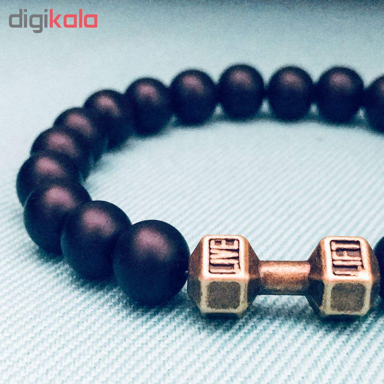 دستبند مردانه طرح دمبل کد DA01 main 1 1