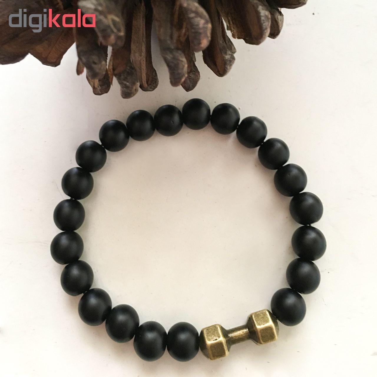 دستبند مردانه طرح دمبل کد DA01 main 1 2