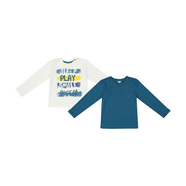 تی شرت نوزادی او وی اس مدل 2414628 بسته 2 عددی
