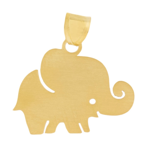 آویز گردنبند طلا 18 عیار دخترانه طرح فیل کد UN083