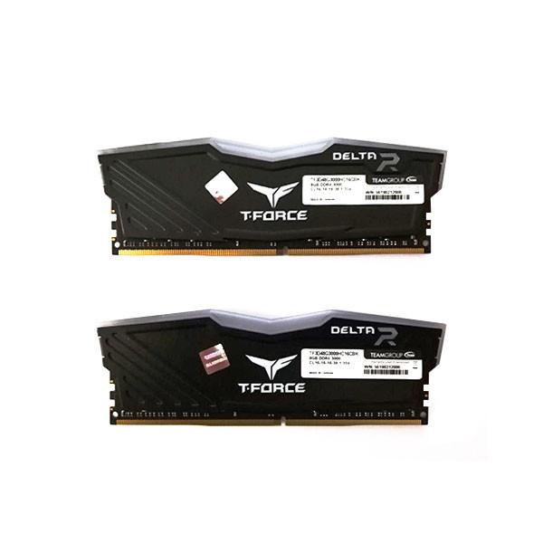 رم دسکتاپ DDR4 دو کاناله 3000 مگاهرتز CL16 تیم گروپ مدل T-Force Delta RGB ظرفیت 16 گیگابایت