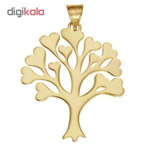 آویز گردنبند طلا 18 عیار زنانه طرح درخت کد UN079