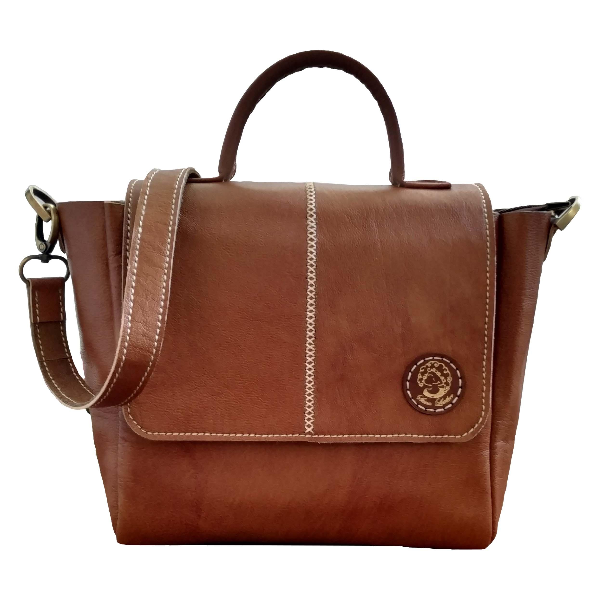 leather Briefcase Shoulder Satchel Bag, Code 125