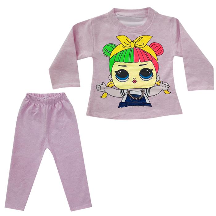 ست تی شرت و شلوار دخترانه کد N-011