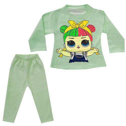 ست تی شرت و شلوار دخترانه کد N-012