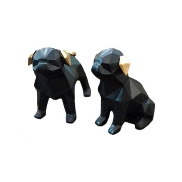 مجسمه طرح سگ  کد 77458585 مجموعه دو عددی