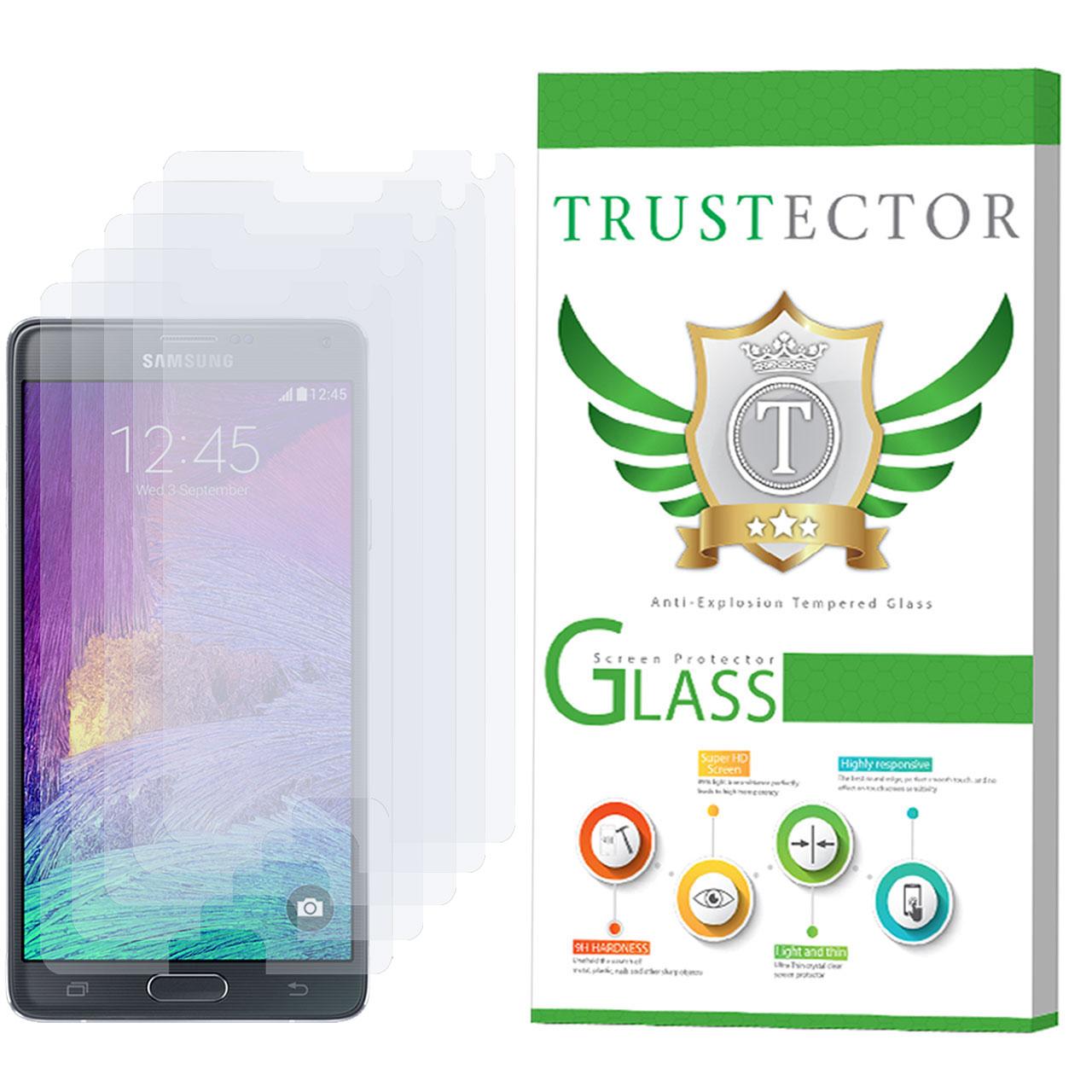 محافظ صفحه نمایش تراستکتور مدل GLS مناسب برای گوشی موبایل سامسونگ Galaxy Note 4 بسته 5 عددی thumb