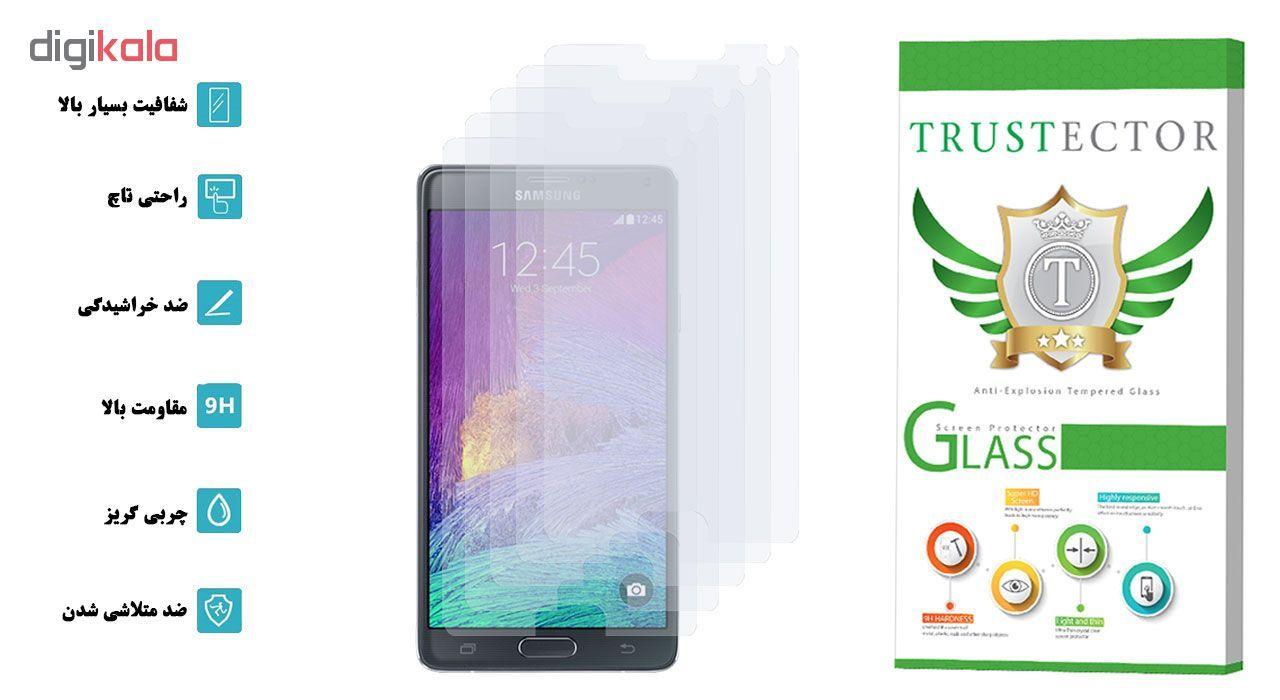 محافظ صفحه نمایش تراستکتور مدل GLS مناسب برای گوشی موبایل سامسونگ Galaxy Note 4 بسته 5 عددی main 1 2