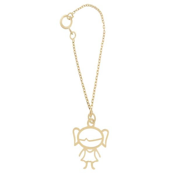 آویز ساعت طلا 18 عیار زنانه طرح دختر بچه کد SG561