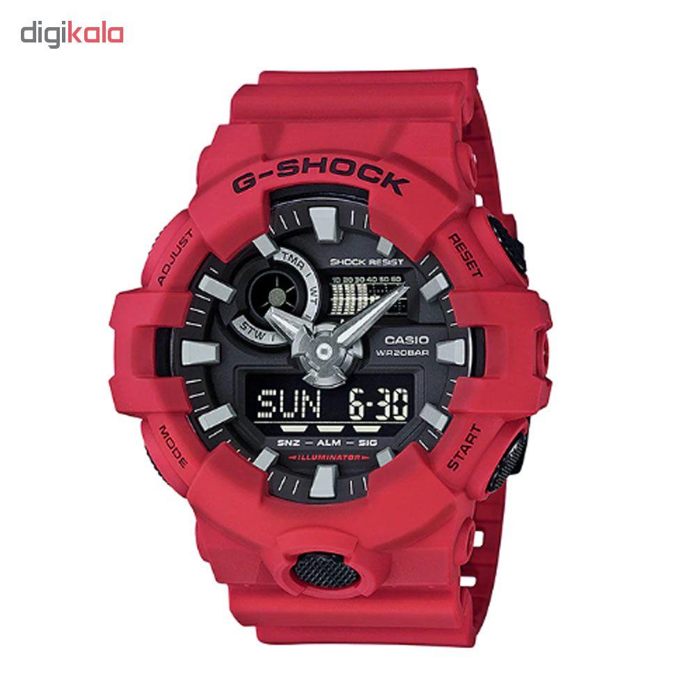 کد تخفیف                                      ساعت عقربه ای مردانه کاسیو مدل جی شاک کد GA-700-4A
