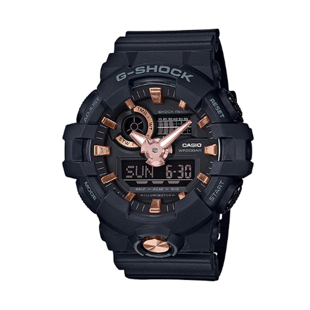 ساعت عقربه ای مردانه کاسیو مدل جی شاک کد GA-710B-1A4