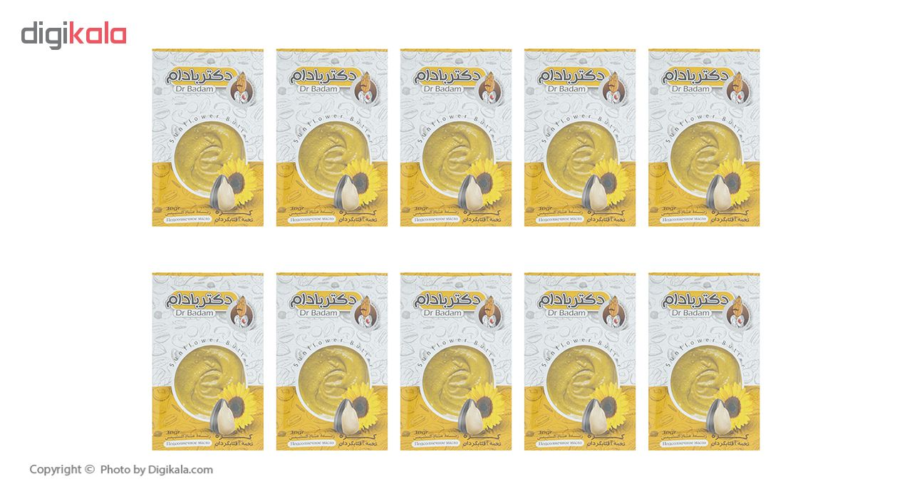 کره تخمه آفتابگردان دکتر بادام بسته 10 عددی