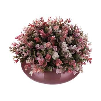 گلدان به همراه گل مصنوعی بخشی مدل SH5060