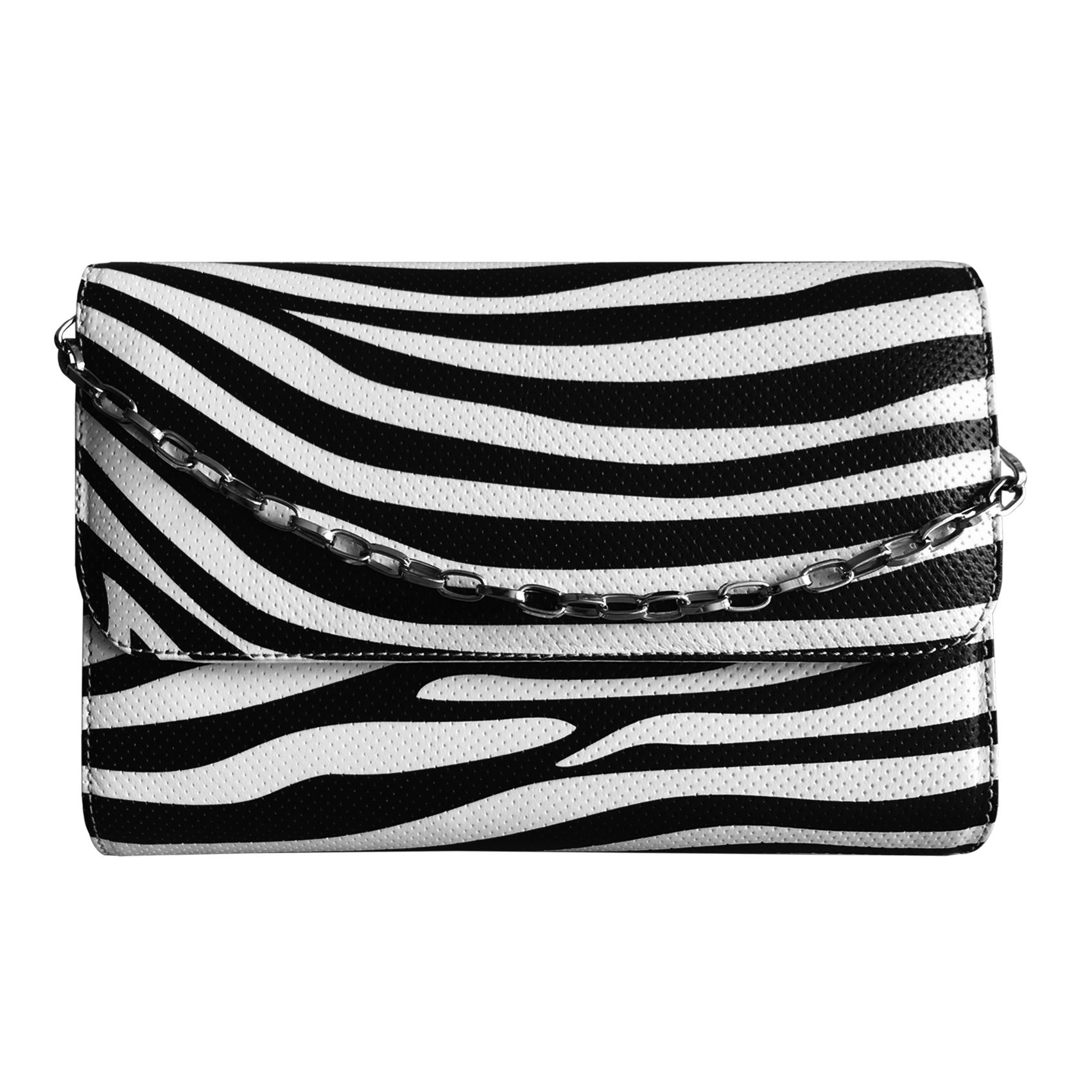 کیف دوشی زنانه شیک و زیبا پیمان مدل Maroon Zebra X 17