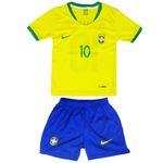 ست پیراهن و شورت ورزشی پسرانه طرح تیم ملی برزیل کد 2018 thumb