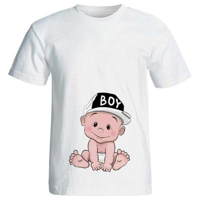 Photo of تی شرت بارداری طرح boy کد 3981