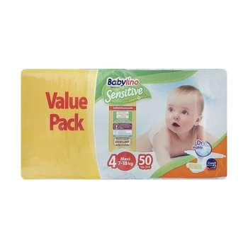 پوشک ضد حساسیت بیبی لینو سایز 4 مدل Value Pack بسته 50 عددی
