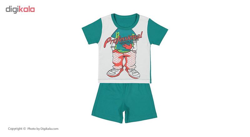 ست تی شرت و شلوارک راحتی پسرانه وستیتی مدل Ma13