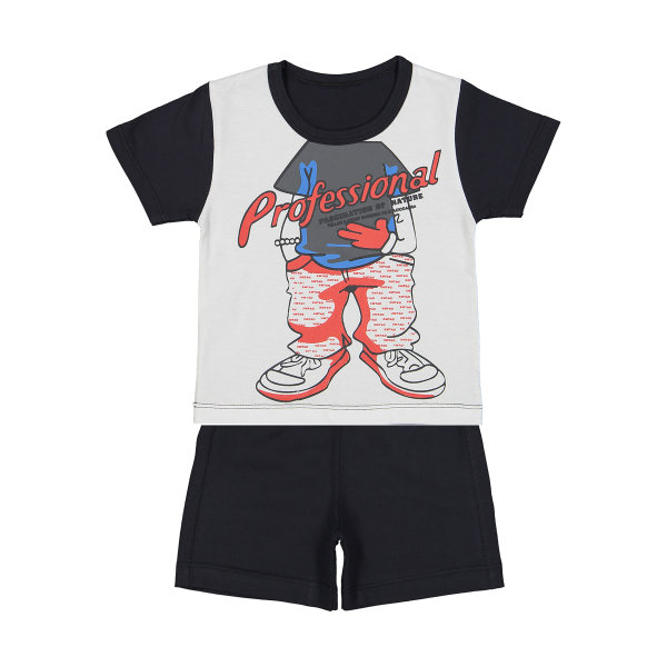 ست تی شرت و شلوارک راحتی پسرانه وستیتی مدل Ma5