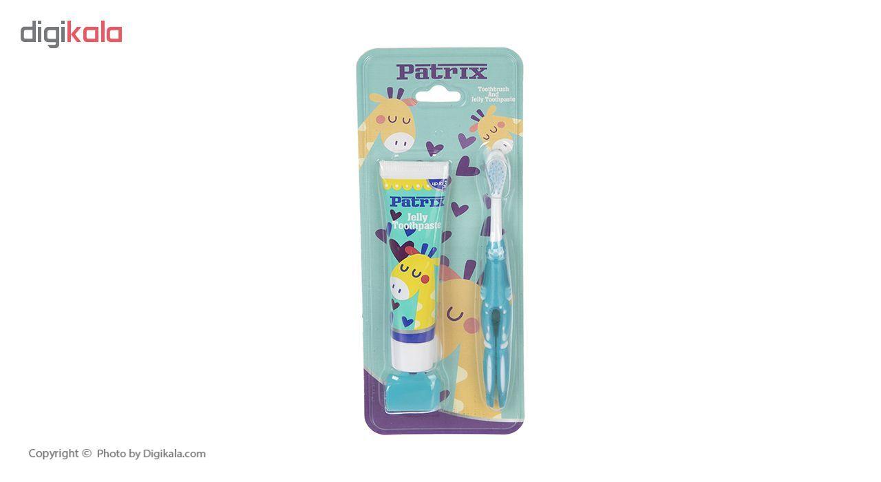 مسواک و خمیر دندان پاتریکس کد 0348 با برس نرم main 1 1